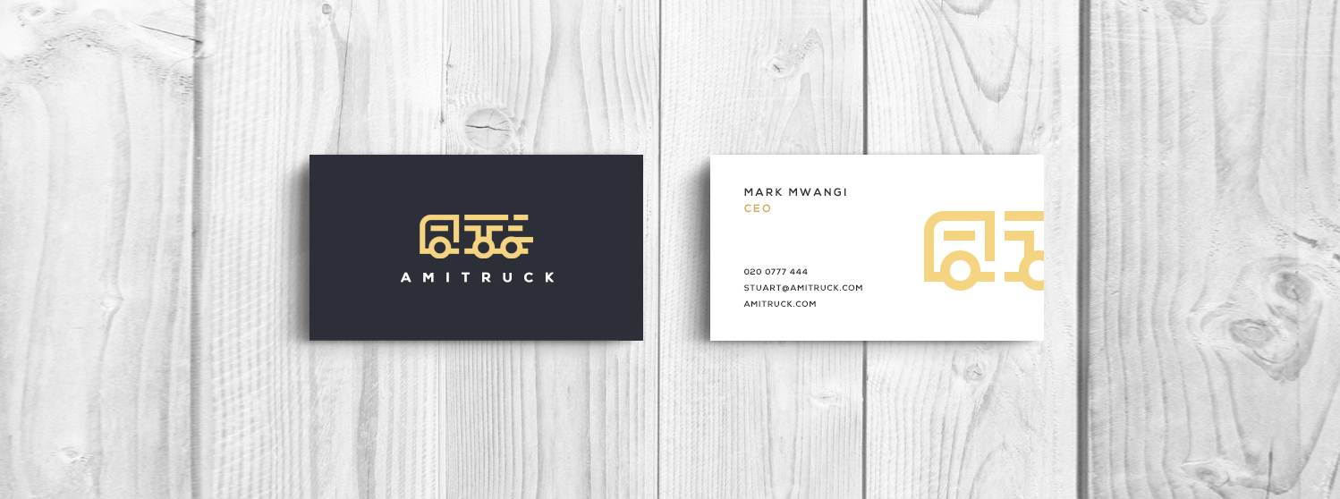 Amitruck Brand Identity and Business Card Design