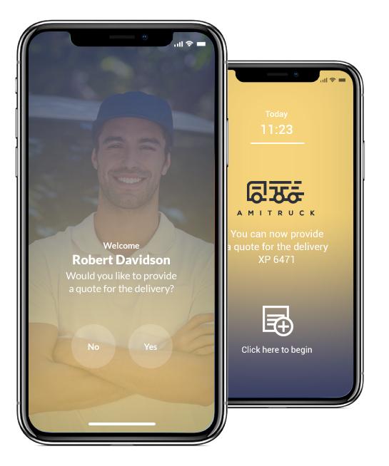 Amitruck Mobile App Design