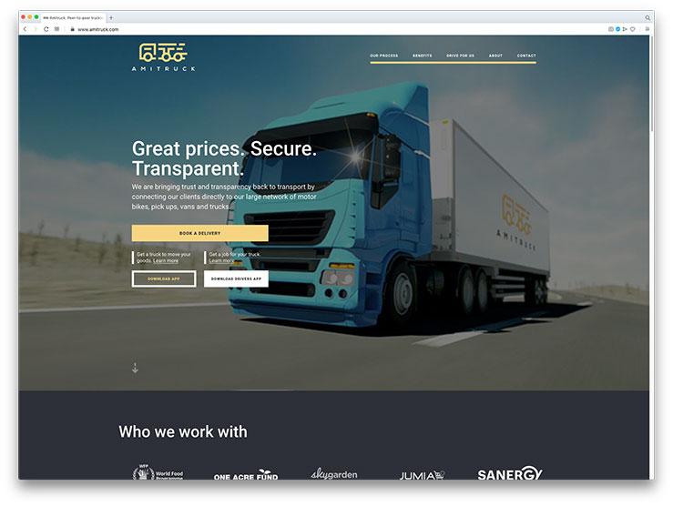 Amitruck One Page Website Design & Development