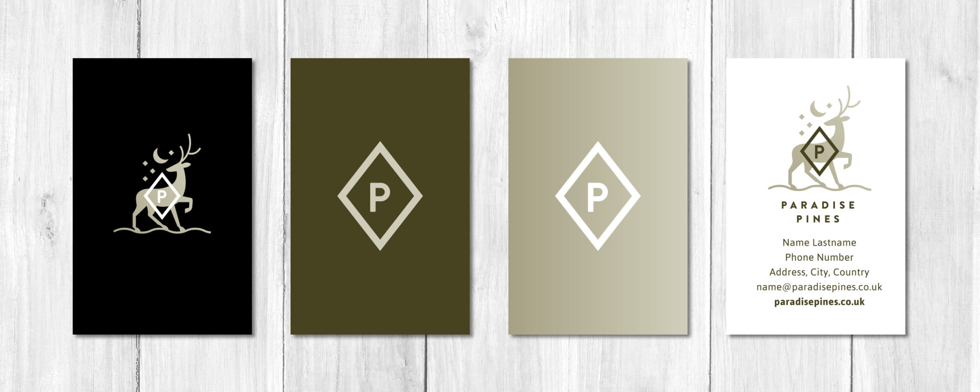 Paradise Pines Business Card Design