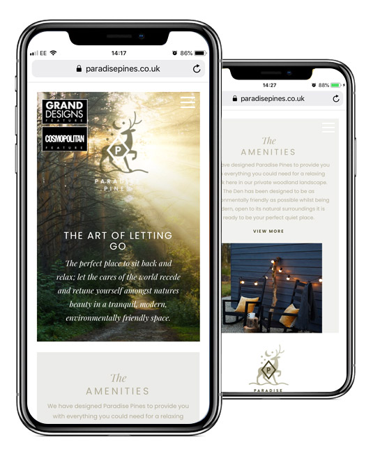 Paradise Pines Mobile Website Design