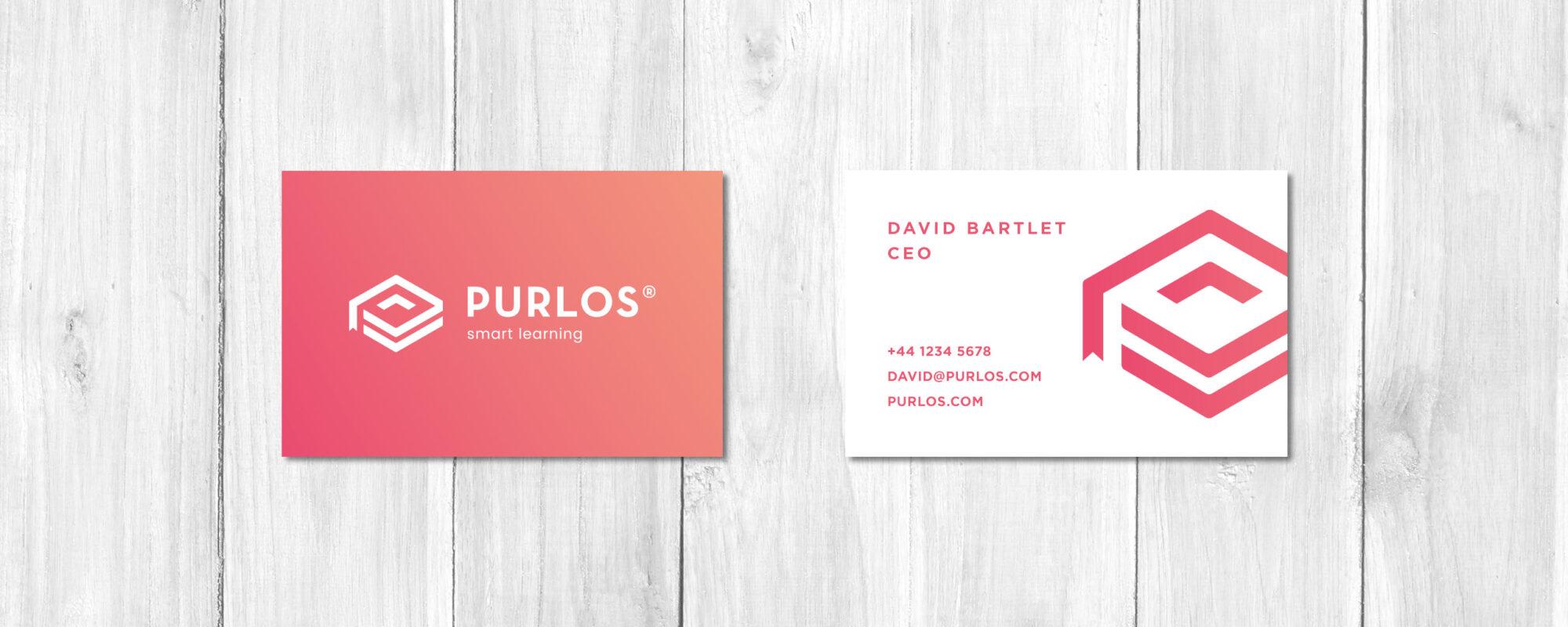 Purlos Business Card Design