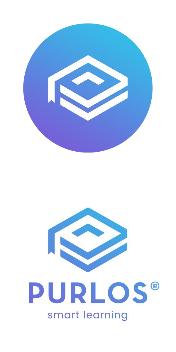 Purlos Brand Logos in blue
