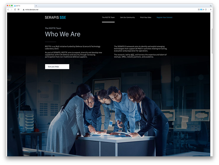Are You MIITTE? Single-page Website for Serapis SSE