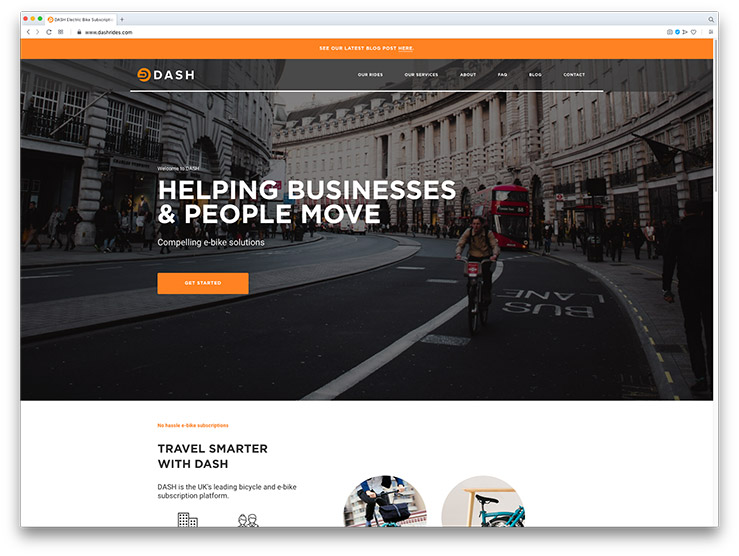 Dash Rides Small Business Website Design