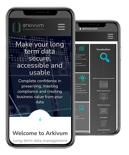 Arkivum Mobile-first Website Design