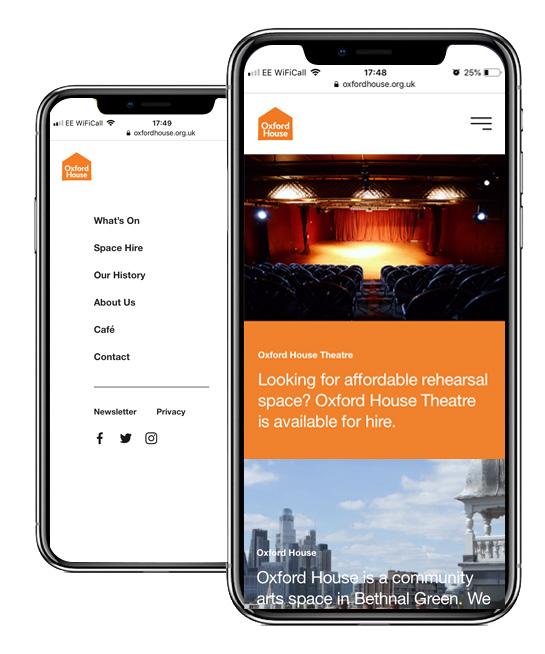 OH! Arts & Community Centre Mobile Responsive Website Design