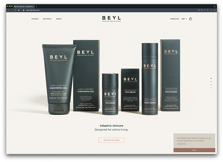 Bespoke Shopify eCommerce Store for Beyl Skincare
