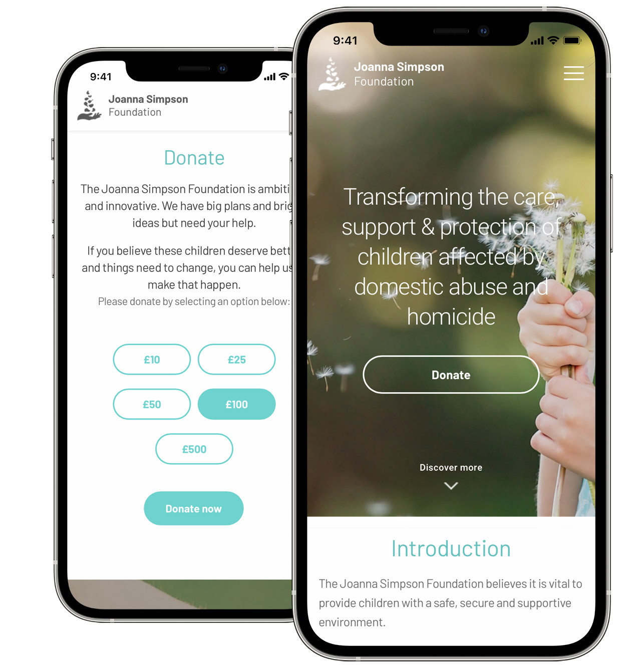 Charity Website Design with Donations by Go Cardless