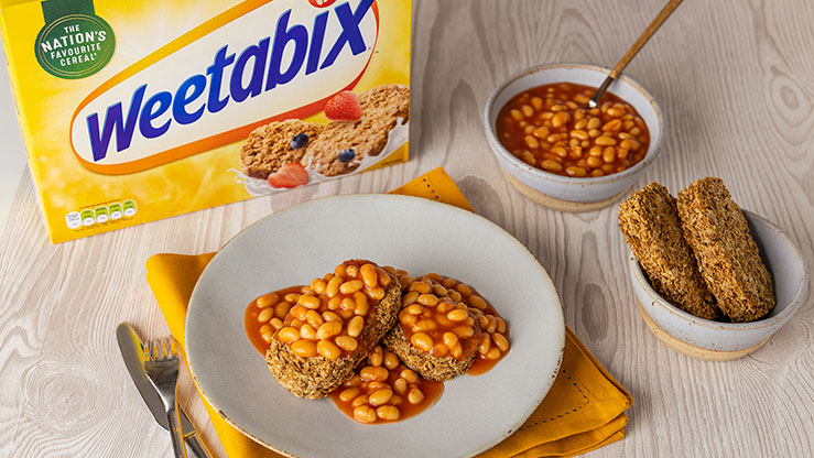 baked beans on weetabix for breakfast