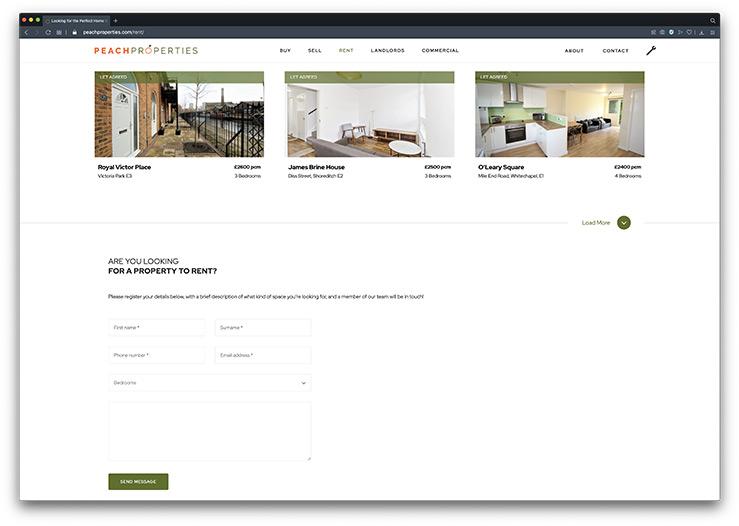 estate-agent-website design enquiry form