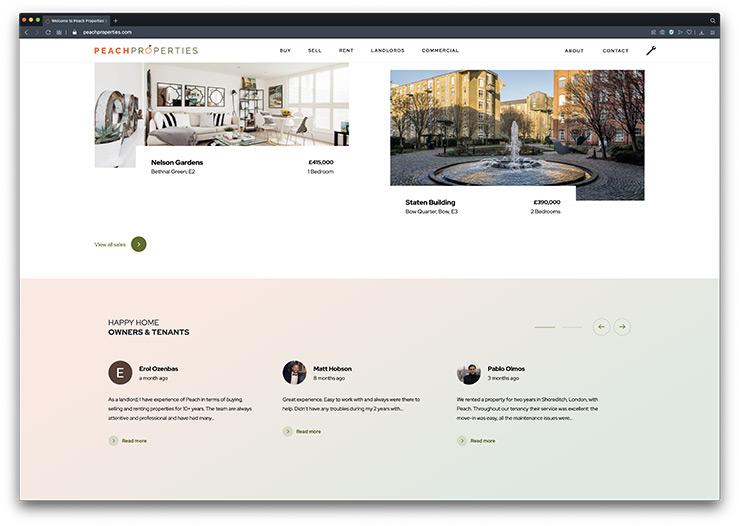 estate agent website google reviews
