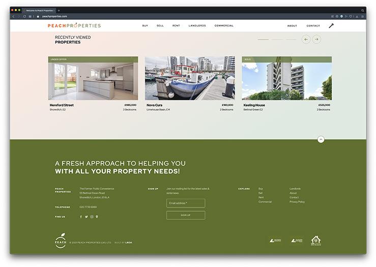 estate agent website mailing list