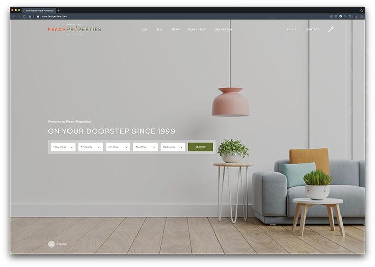 Peach Properties Estate Agent Website Design & Development