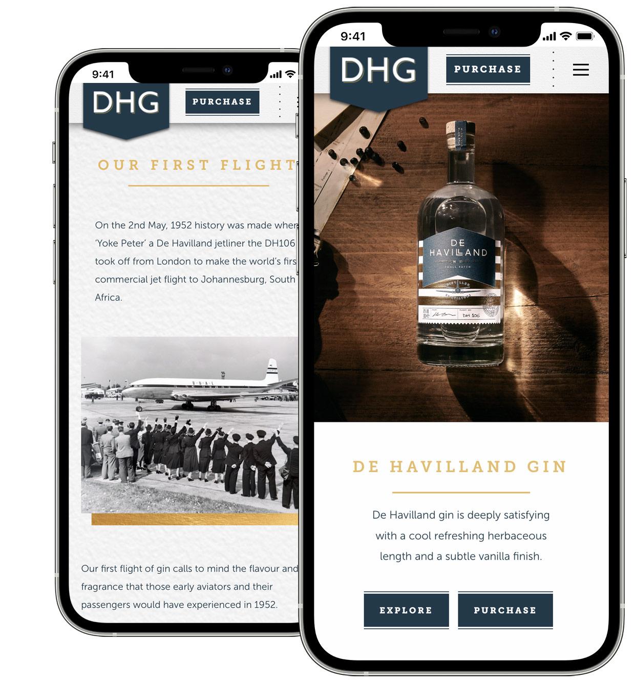 Artisan Gin Mobile Website Design