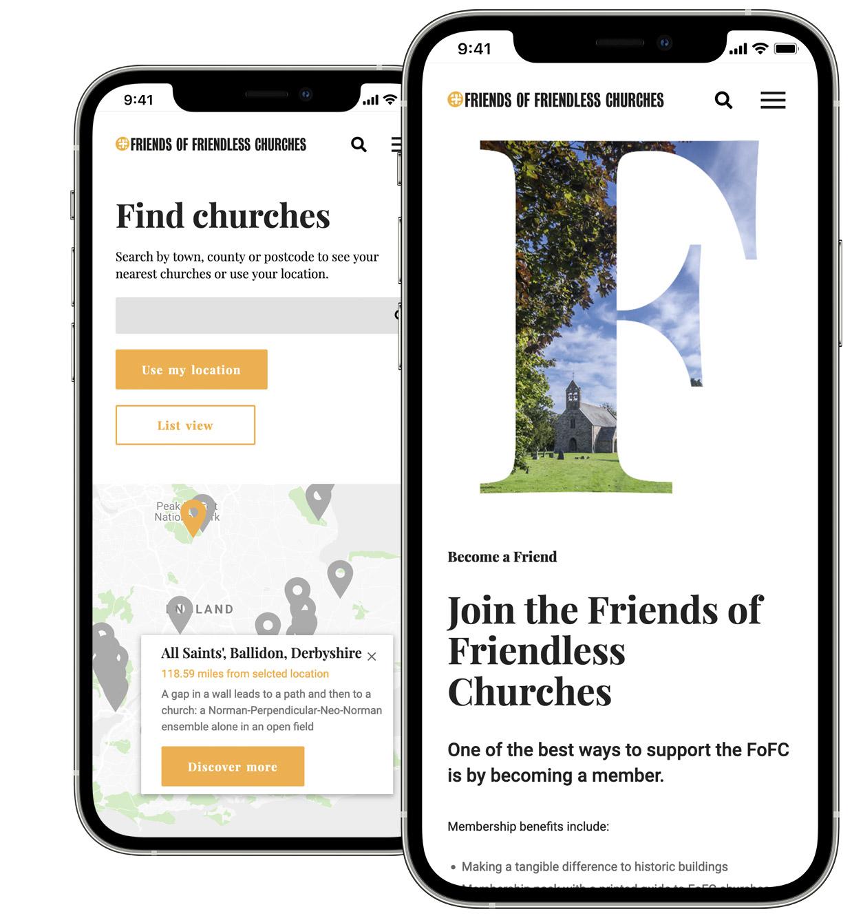 Friends of Friendless Churches Responsive Website Design