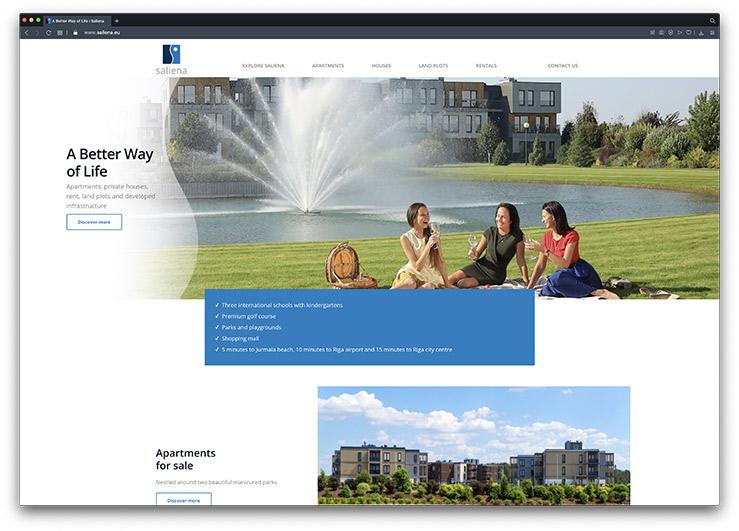Saliena Real Estate Website Design