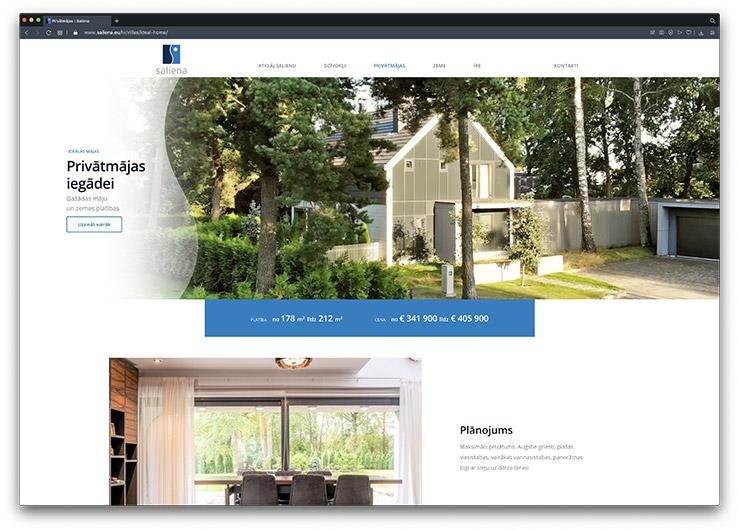 saliena multilingual website development