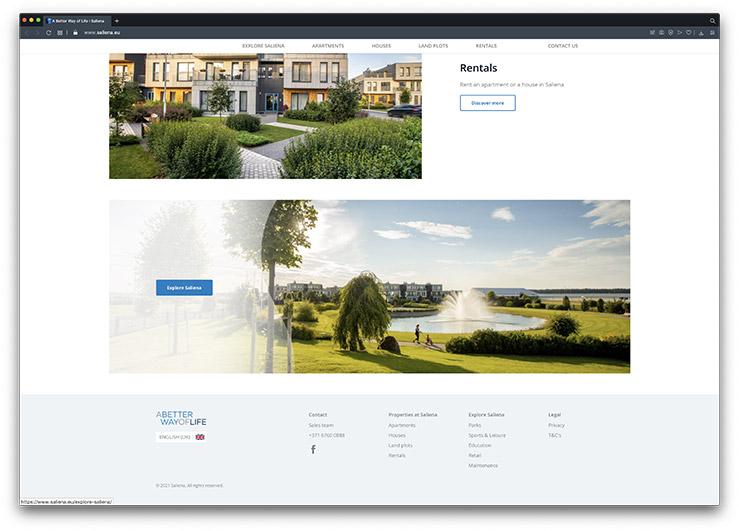 saliena property development website enquiries