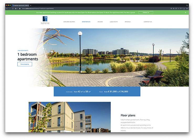 Saliena Property Website Design & Development