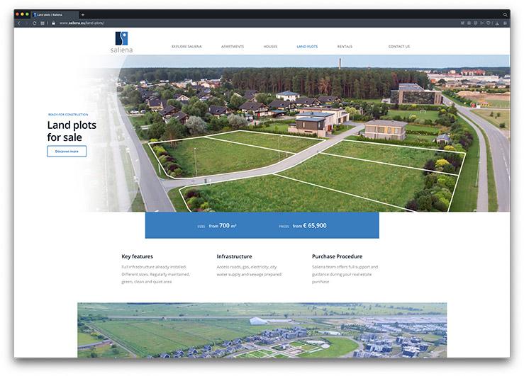 saliena website attracting property developers